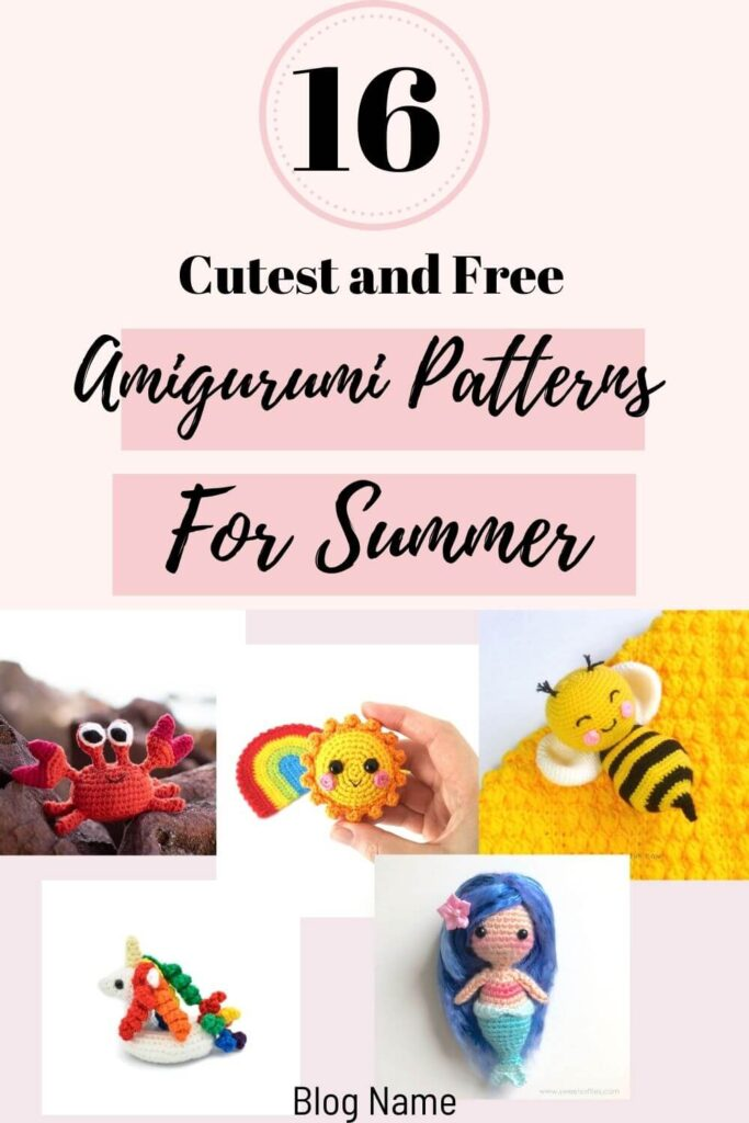 best summer amigurumi toys and animals free crochet patterns and tutorial for beginners