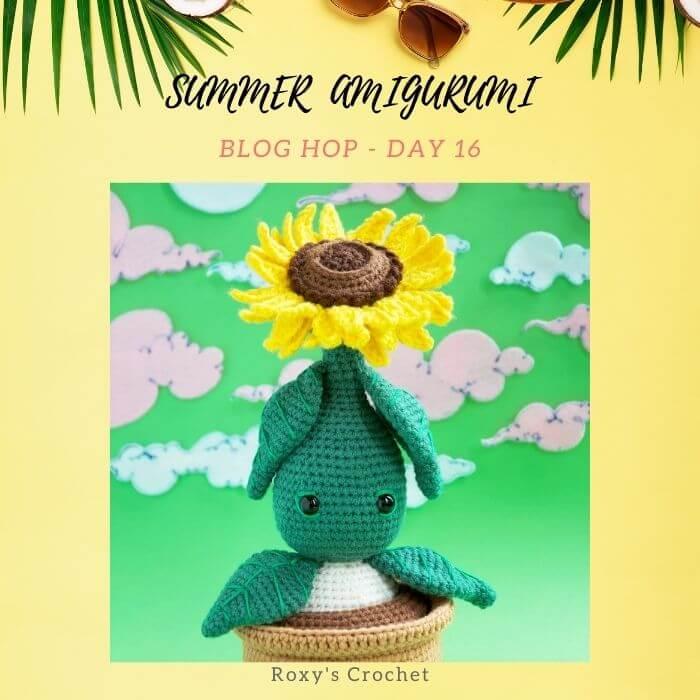 Sunflower in Flowerpot free amigurumi crochet pattern