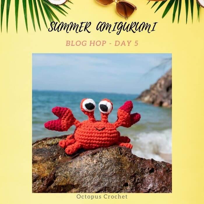 crochet crab amigurumi toy