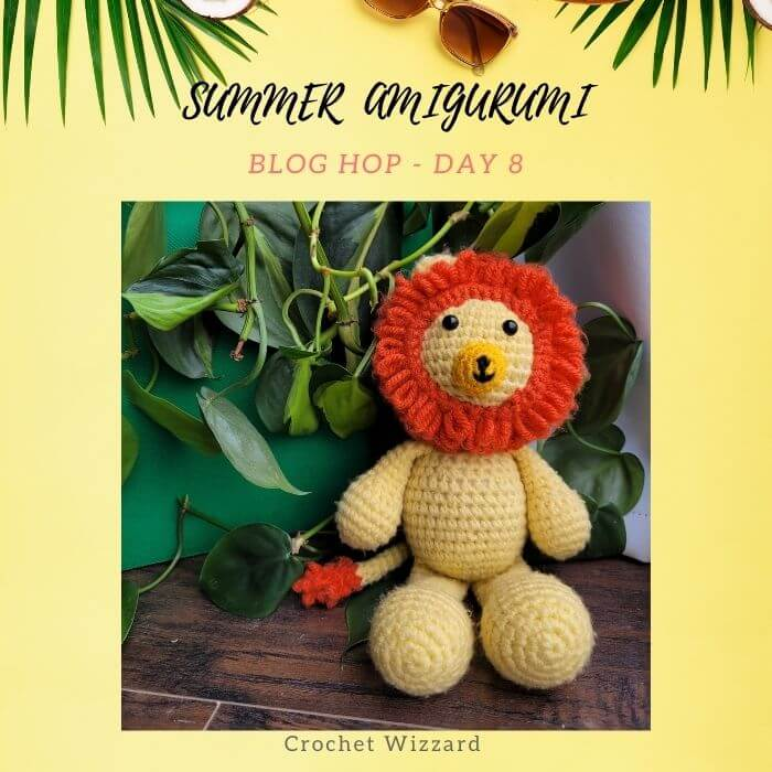 tiny lion amigurumi crochet pattern