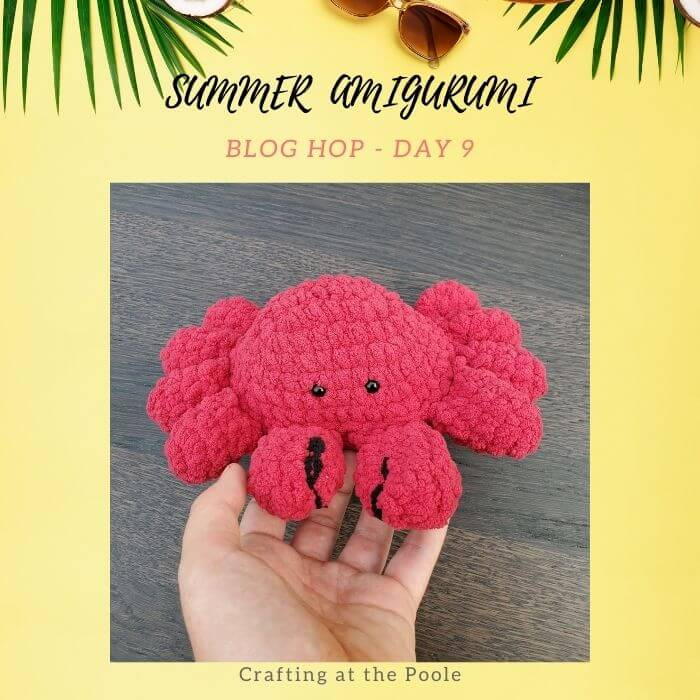 fluffy amigurumi crab crochet pattern