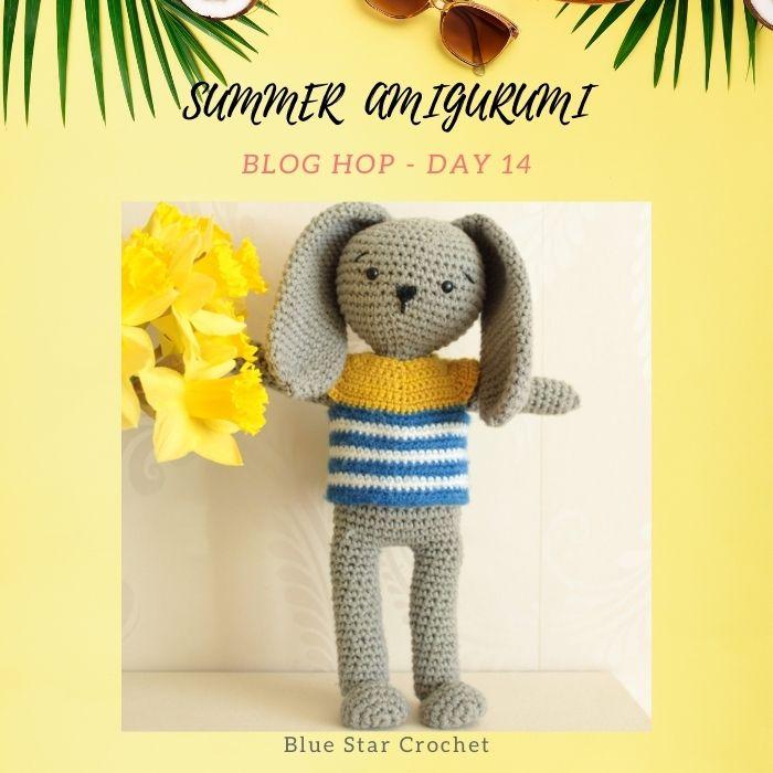 tiny no-sew bunny amigurumi free crochet pattern