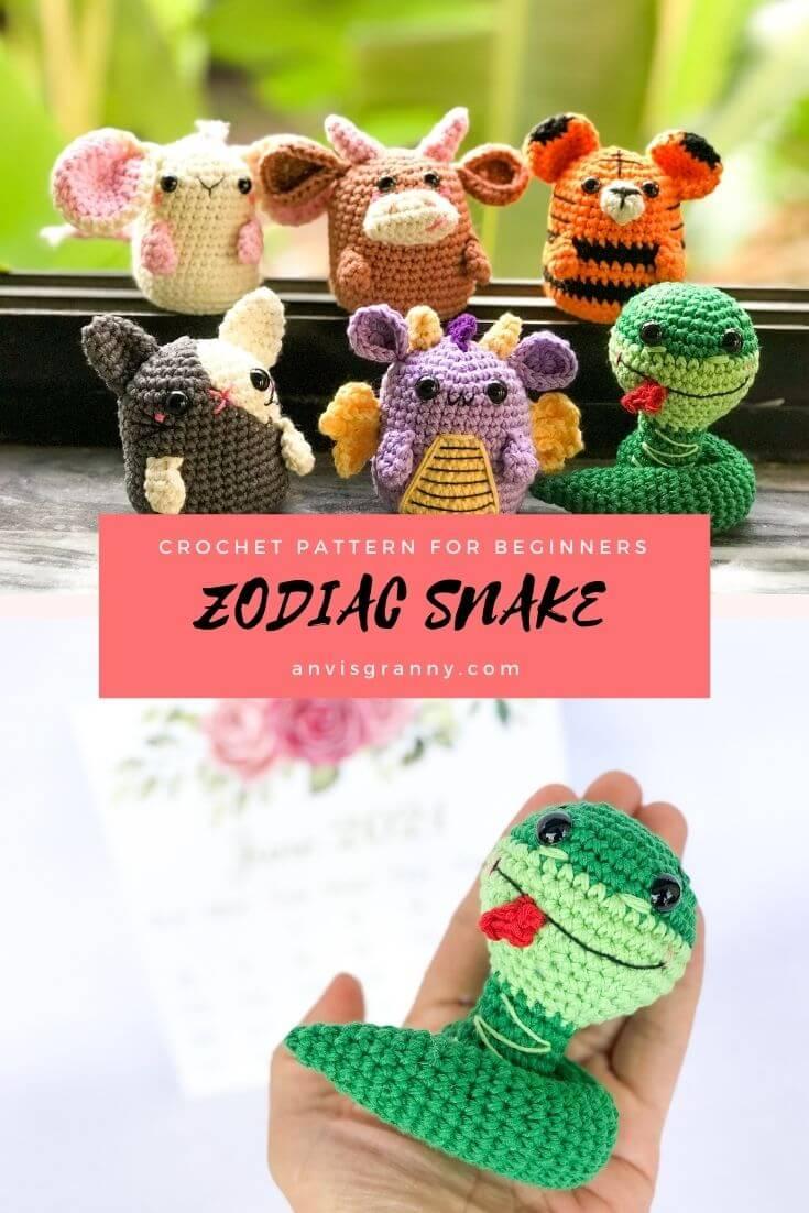 PDF small snake crochet pattern for beginners