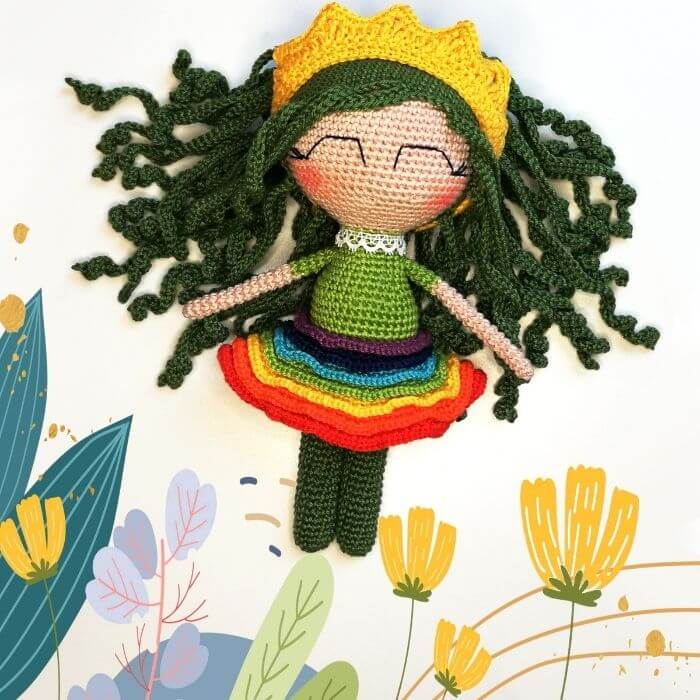 rainbow amigurumi doll crochet pattern
