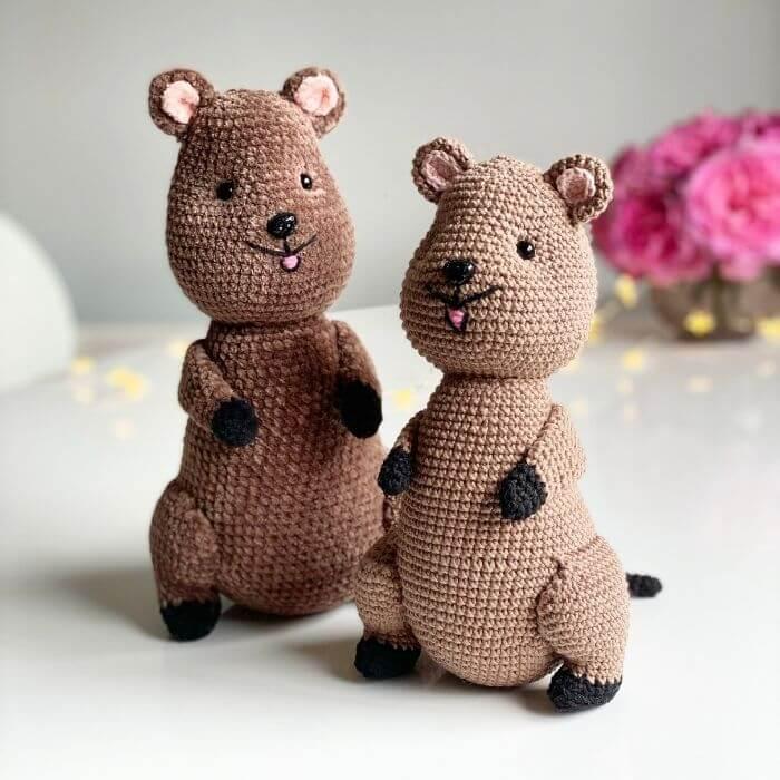 Quentin the Quokka woodland animal amigurumi crochet pattern