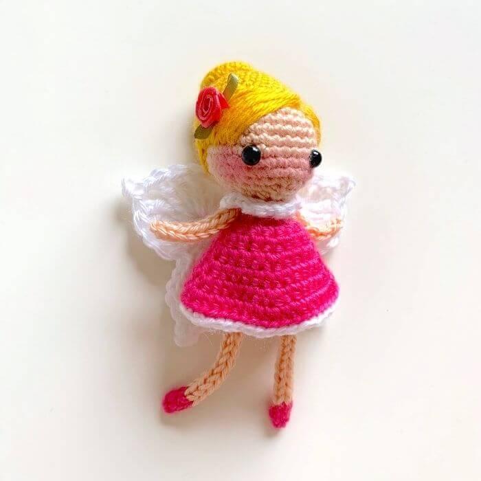 flower fairy amigurumi doll keychain crochet pattern