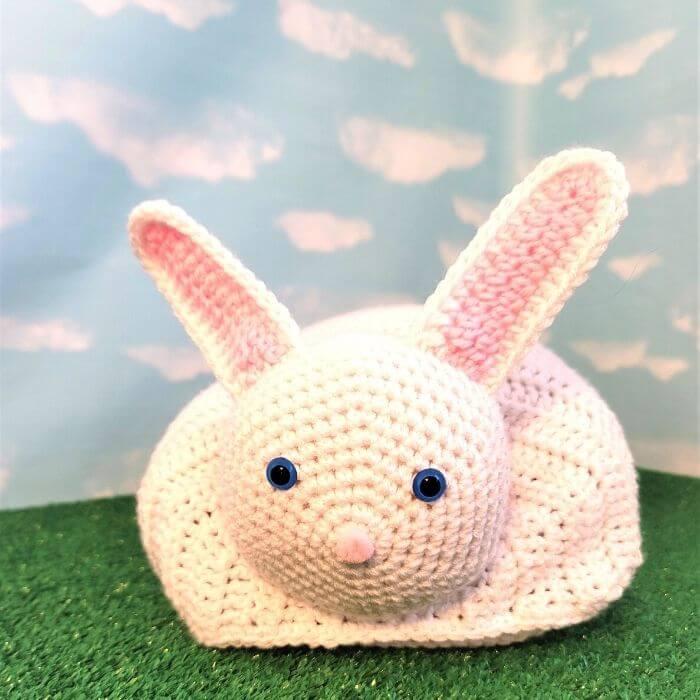 bunny hat and blanket amigurumi crochet pattern