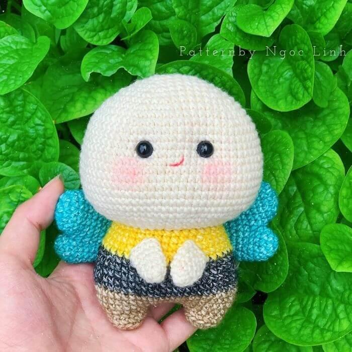 chubby bee amigurumi crochet pattern