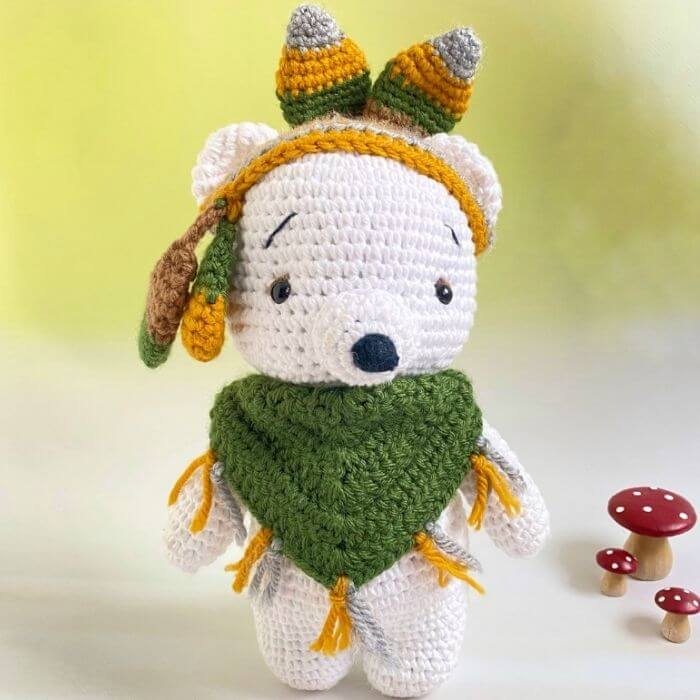 native bear amigurumi crochet pattern