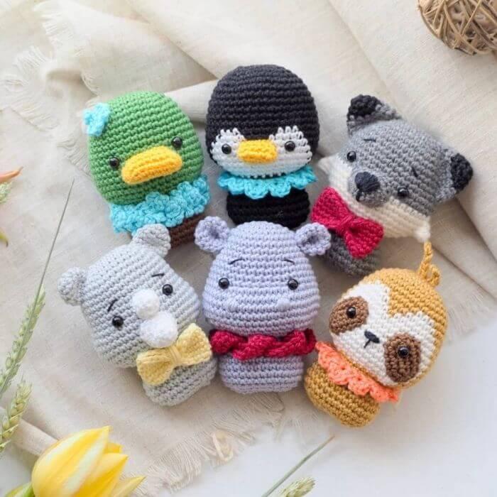 infant toy animal amigurumi crochet pattern