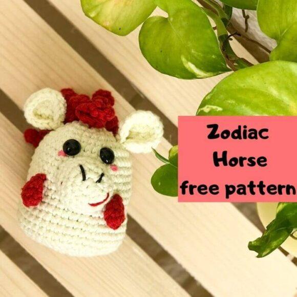 Zodiac Horse Amigurumi Free Pattern-Zodiac CAL (Eps 07)