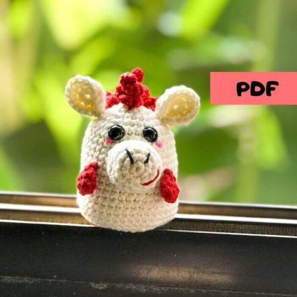 Chinese zodiac horse amigurumi crochet pattern and video tutorial