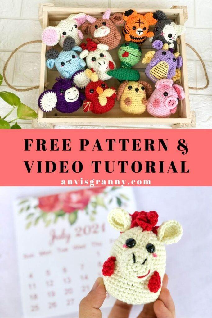 Free Zodiac Horse amigurumi animal crochet pattern