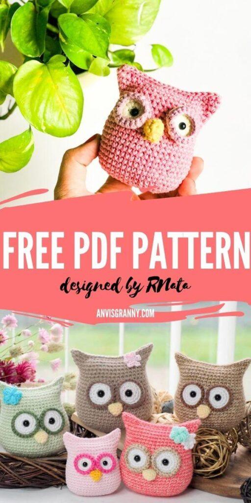 Little owl amigurumi free crochet pattern