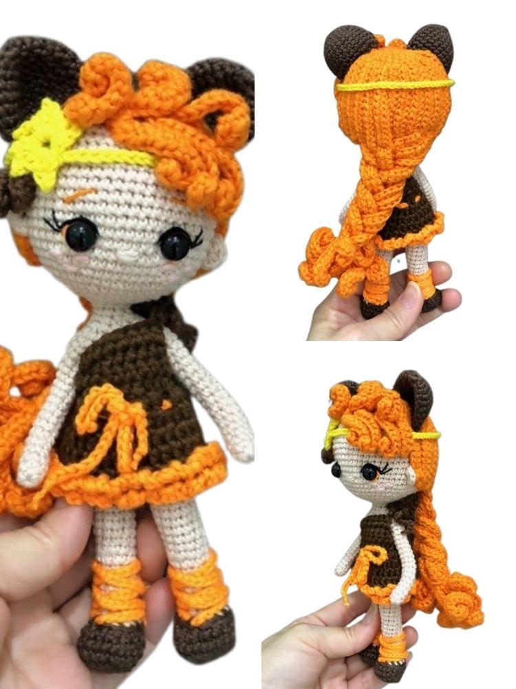 Leo Zodiac princess crochet amigurumi