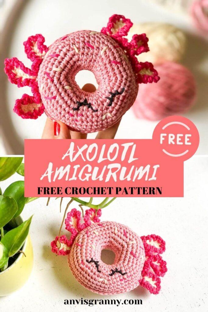 Axolotl-donut-amigurumi-pattern