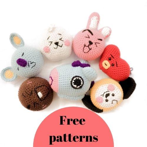 Crochet BT21 Amigurumi Free Patterns – BTS Crochet Keychain Patterns