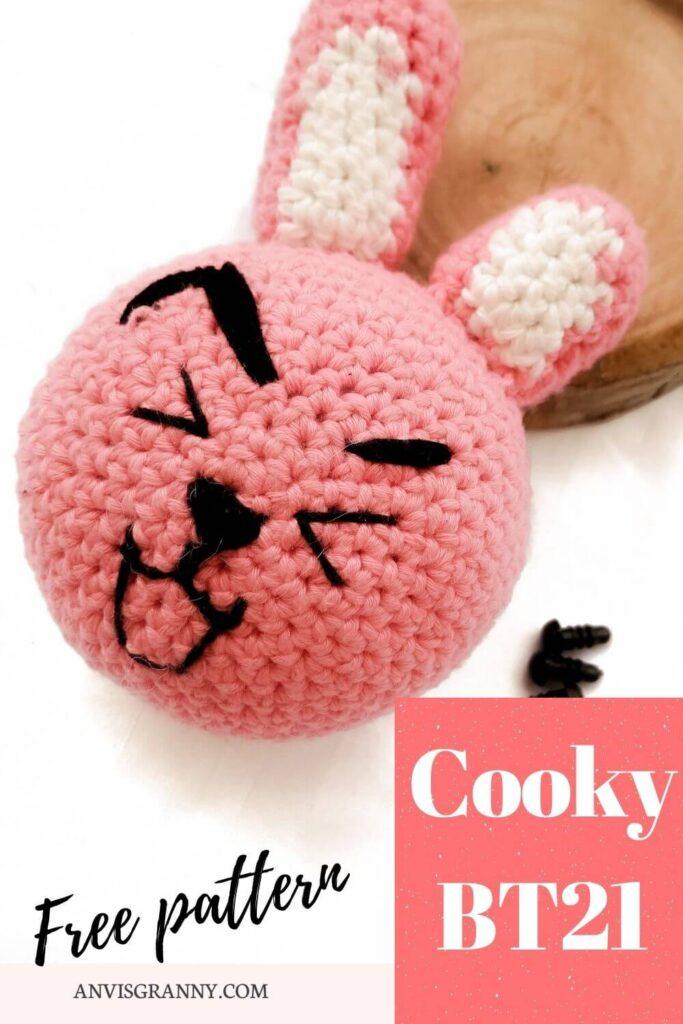 Cooky BTS free crochet pattern