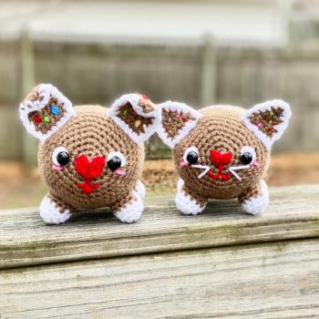 Amigurumi Gingerbread Dog and Cat
