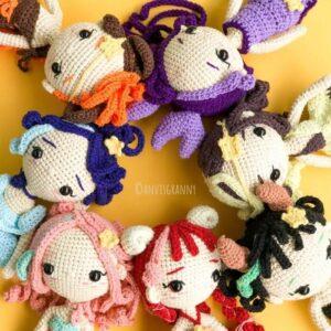 simply crochet zodiac calendar - zodiac sign amigurumi doll crochet patterns
