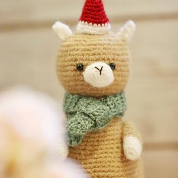 Carl the Christmas Alpaca