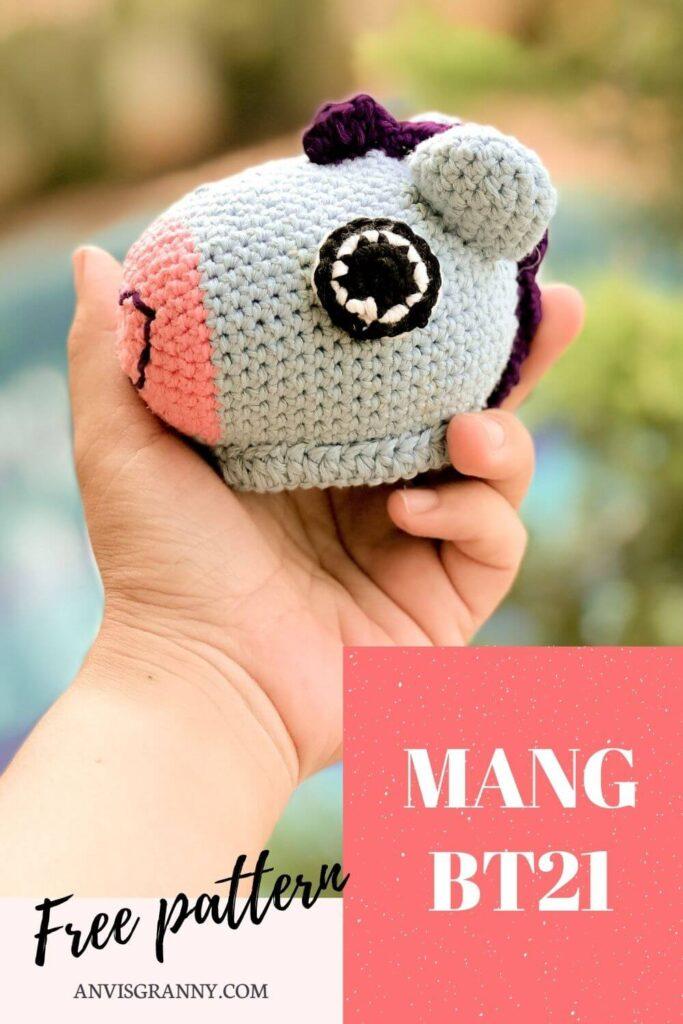 Mang BTS free crochet pattern