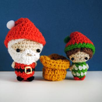 Santa Claus and Elf amigurumi