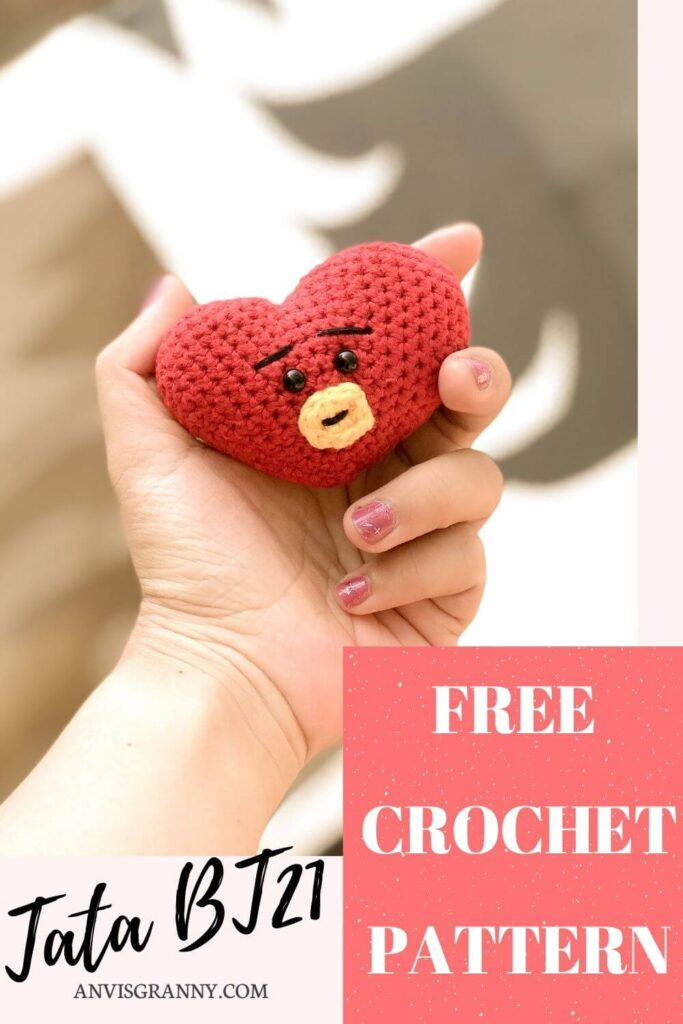 amigurumi Tata BTS free crochet pattern