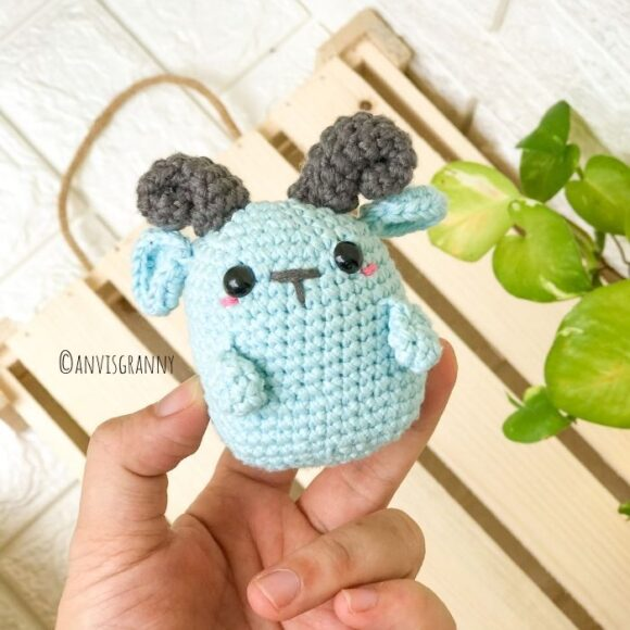 easy goat amigurumi crochet pattern for beginners