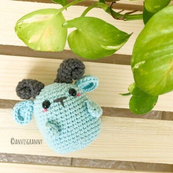 chinese zodiac sign amigurumi goat crochet pattern