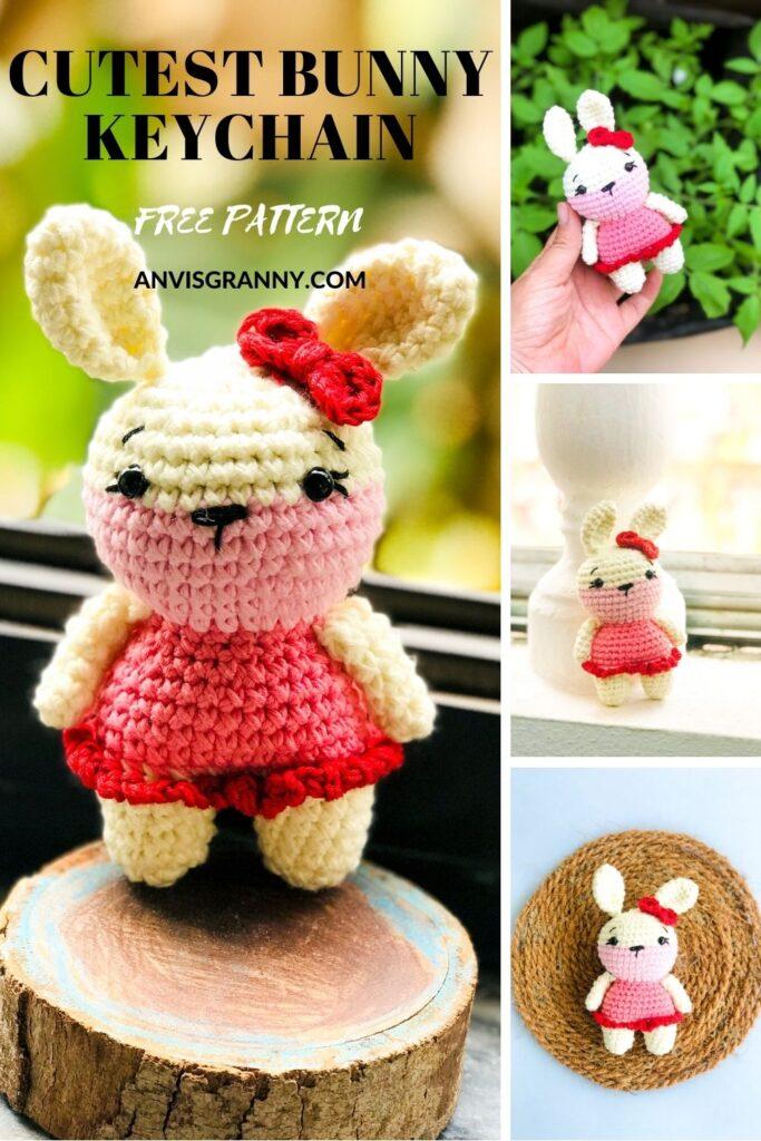 crochet small bunny rabbit amigurumi pattern for beginners