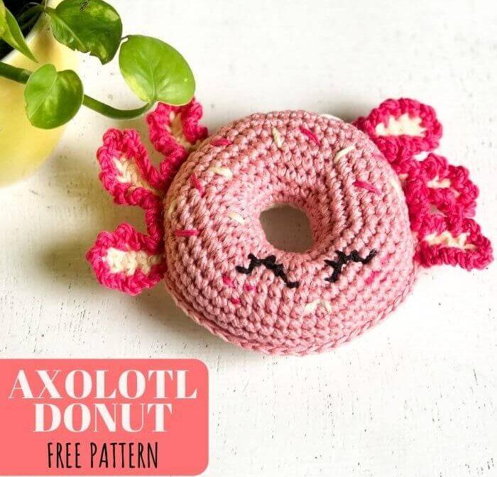 Easy Crochet Donut Axolotl Amigurumi Free Pattern For Beginners