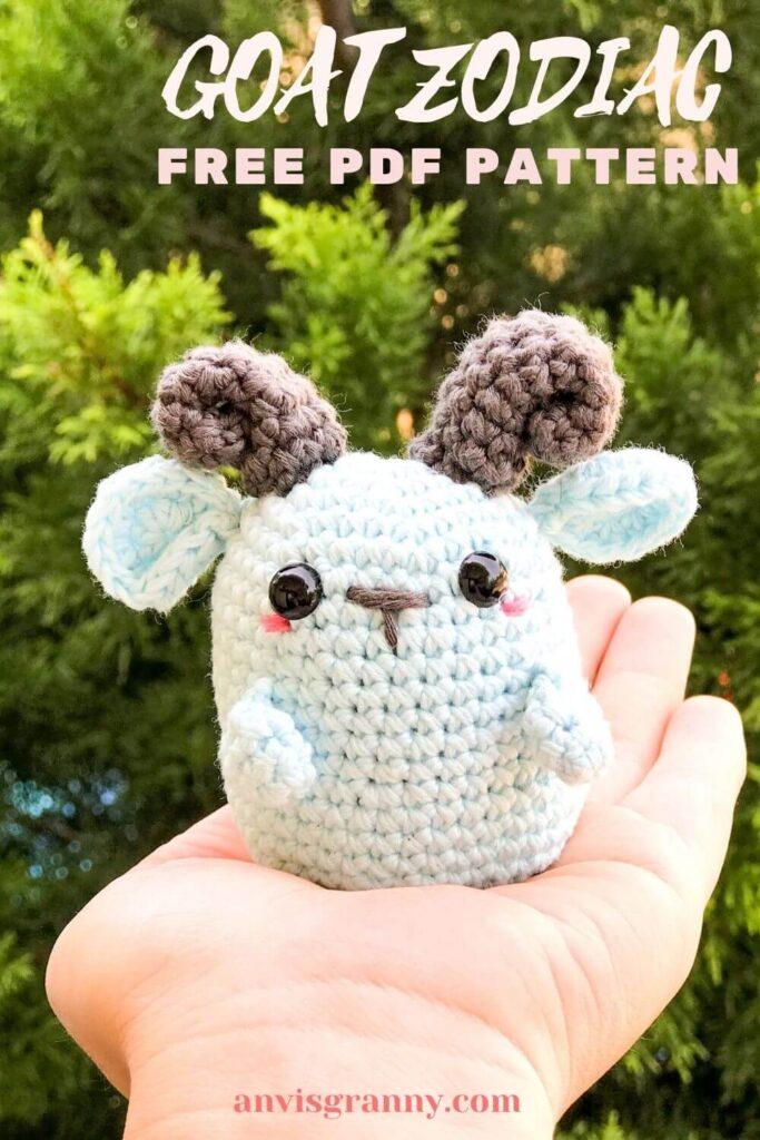 pin for blog YT goat zodiac amigurumi pattern crochet