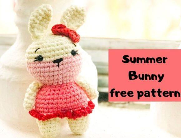 Easy Crochet Bunny Rabbit Amigurumi Free Pattern For Beginners