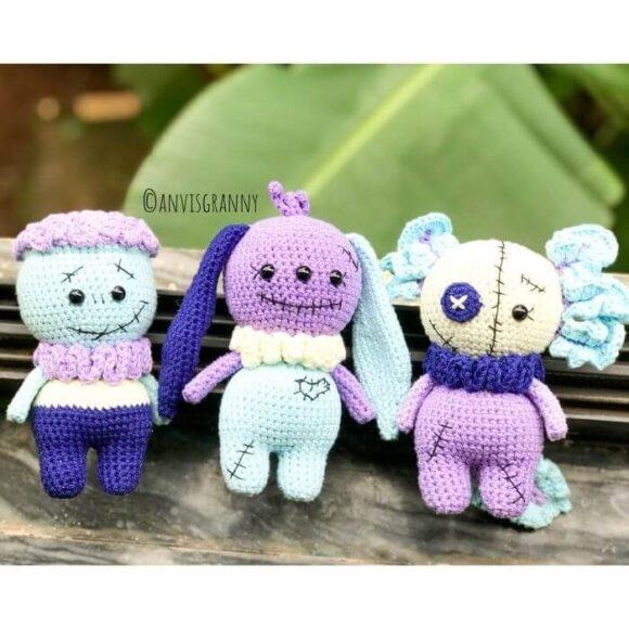 Halloween spooky amigurumi doll crochet patterns for beginers