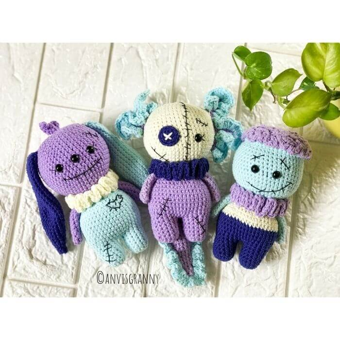 Halloween crochet plushies - spooky Halloween crochet doll patterns