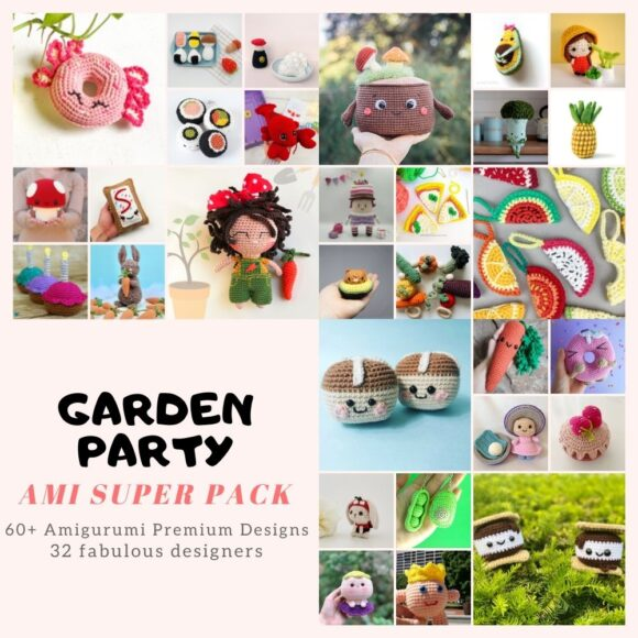 60+ Cutest and Easiest Garden Party Amigurumi Patterns to Crochet