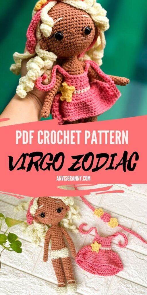 VIRGO zodiac amigurumi crochet pattern pdf