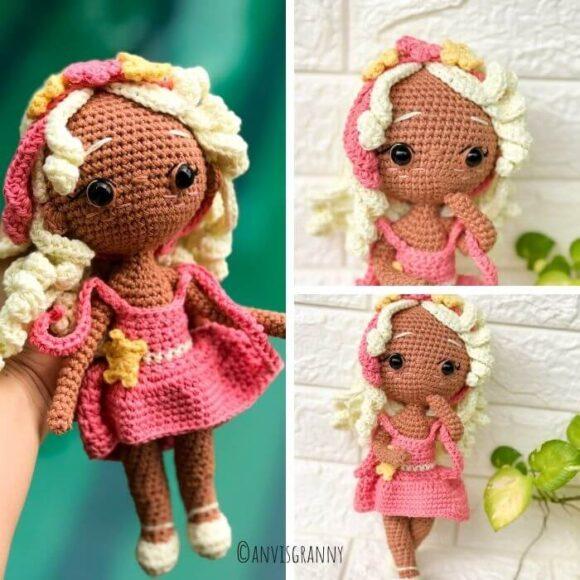 Virgo zodiac amigurumi pattern crochet doll - no sew astrology sign crochet pattern