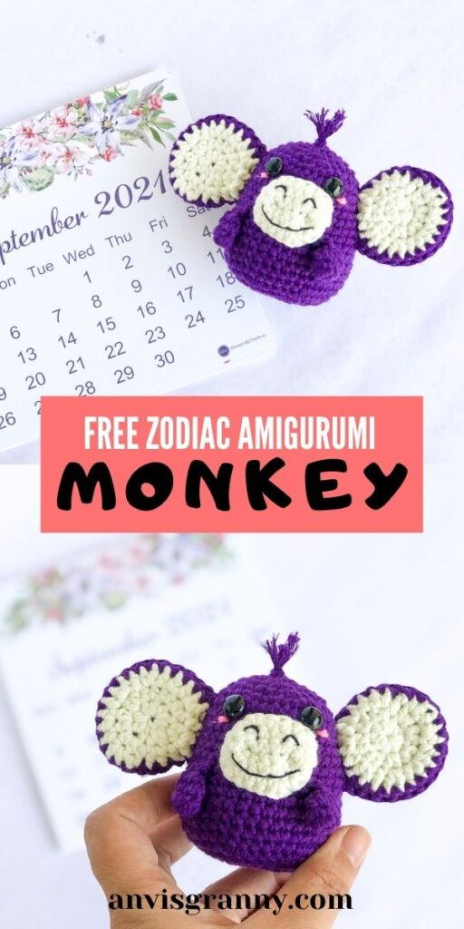 chinese zodiac monkey amigurumi