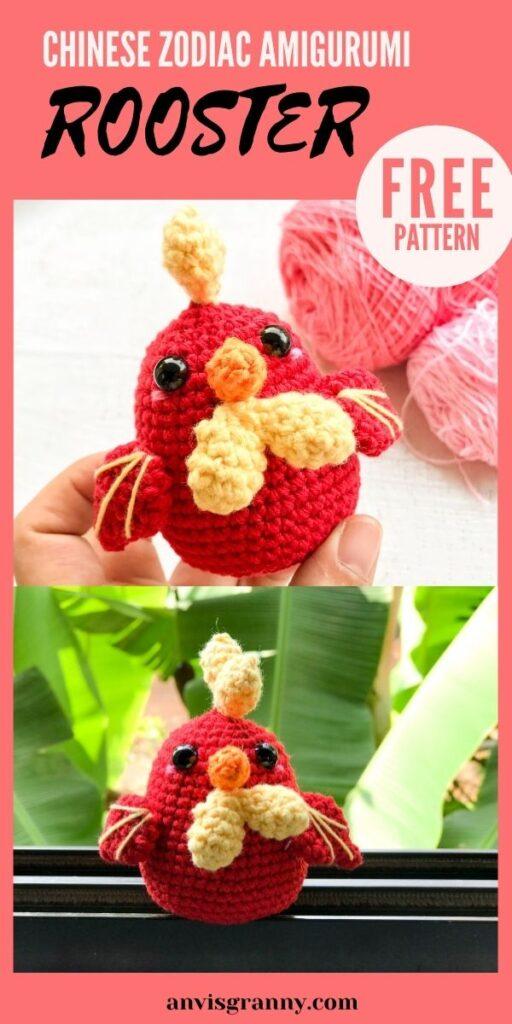 Rooster amigurumi crochet pattern