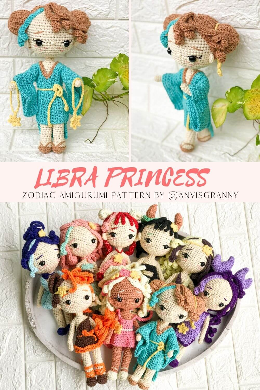 Horoscope Libra princess doll amigurumi pattern