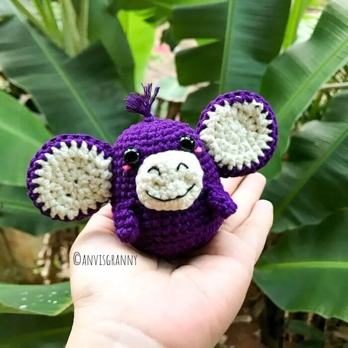How to crochet amigurumi monkey for beginners