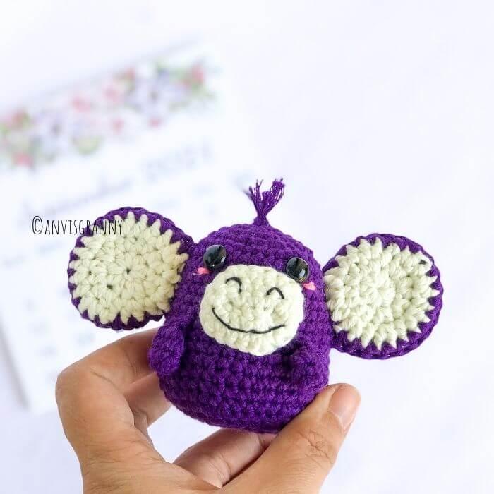 Chinese zodiac monkey amigurumi crochet pattern
