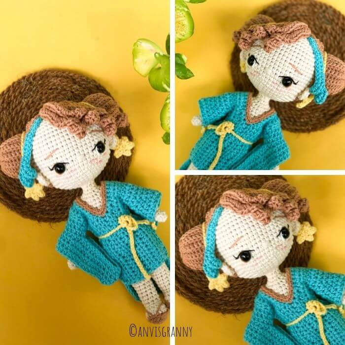 Zodiac sign Libra princess amigurumi doll crochet pattern