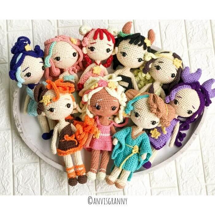 crochet zodiac dolls patterns