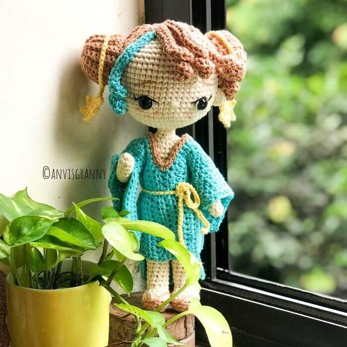 crochet zodiac libra princess amigurumi pattern