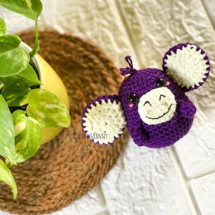 baby monkey amigurumi crochet pattern