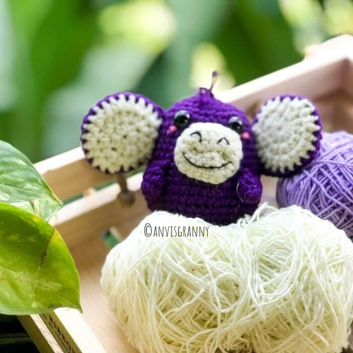 small monkey crochet pattern free - crochet gift for monkey year