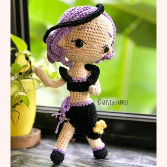Beautiful Scorpio amigurumi doll crochet pattern23